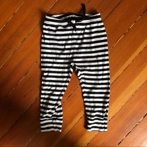 Baby Gap Black and White Stripped Pants 18-24